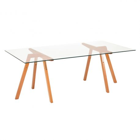 Mesa de jantar Xis cavaletes