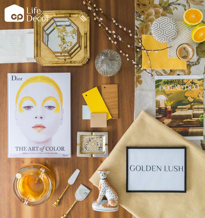 Golden Lush Moodboard