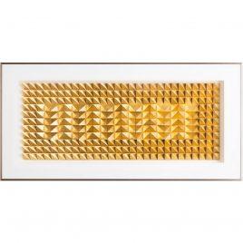 Quadro Geometrical Dourado