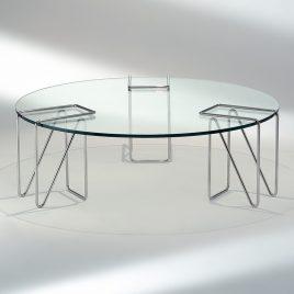 Mesa de centro Clips Cristal redonda