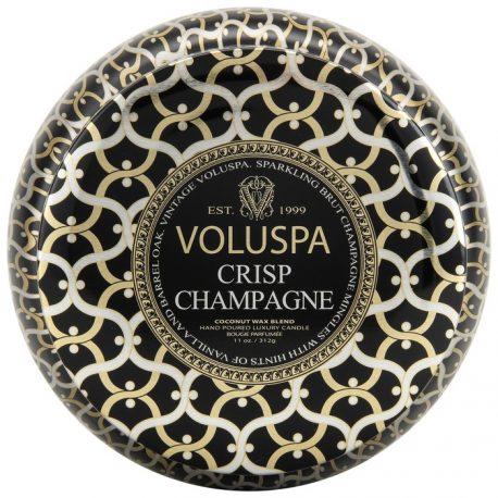 Vela Voluspa Crisp Champagne Lata com 2 Pavios