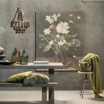 A arte botânica na decoração