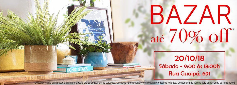 Bazar - 28/10 - Sábado - 9:00 às 18:00h