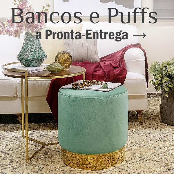 Bancos e Puffs a Pronta-Entrega