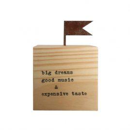 Cubo – Big Dreams Good Music Expensive Taste