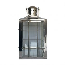Lanterna Vidro e Metal Prata G